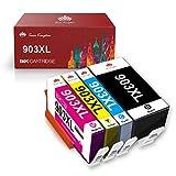 Toner Kingdom Reemplazo de Cartuchos de Tinta compatibles para HP903XL 903XL para HP OfficeJet 6950, HP OfficeJet Pro 6960 6970 (Paquete de 4)