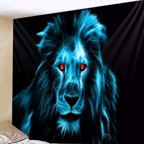N/A Impresión 3D de tapices Impresión Digital del paño de la decoración de la Escena de la tapicería del Fondo del león Azul Regalo Artesanal de decoración del hogar de Tela Colgante