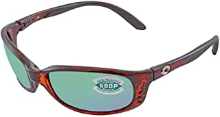 Costa Brine Readers Tortoise Plastic Frame Green Lens Men's Sunglasses BR10OGMP150