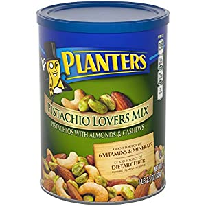 Health Shopping PLANTERS Pistachio Lover's Mix, 1.15 Lb. Resealable Canister – Deluxe