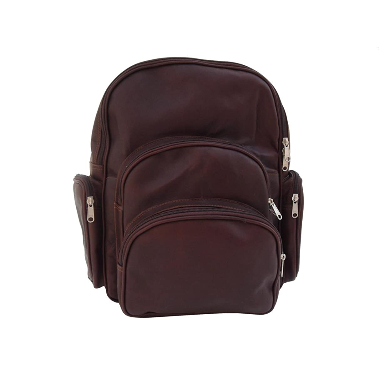 Piel Leather Expandable Backpack, Chocolate, One Size