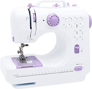 家庭用ミシン 電動ミシン 12種類の縫い目 初心者向き スピート調整可能 2way電源方式 返し縫い フリーアーム仕様 日本語取扱説明書付き 1年保証付き