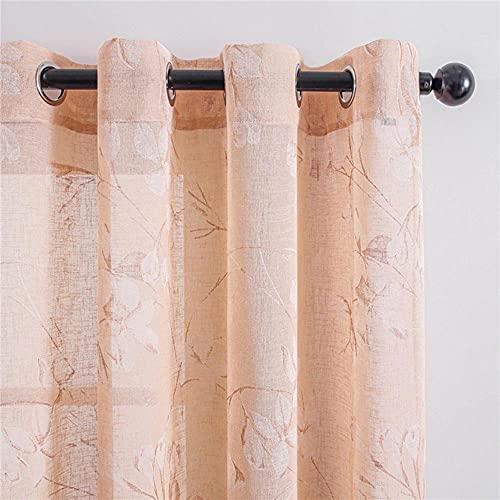 Cortinas elegantes con diseño de lirio, flores de tul para el hogar, decoración del hogar, tratamiento de ventana, hecho a medida, Francia, cinta plisada