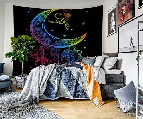 KHKJ Tapiz de hogar de Estilo de Halloween Colgante de Pared Estilo Boho decoración de Calavera Tapiz Sala de Estar Dormitorio A3 200x180cm