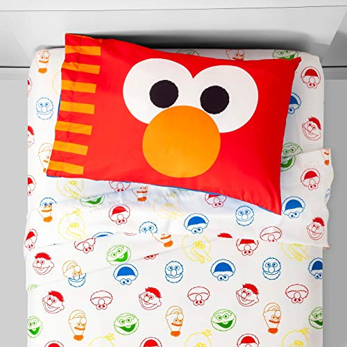 Franco Sesame Street Elmo Twin 3 Piece Sheet Set