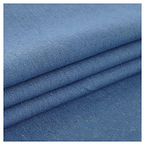 HANYU Stretch Stoff Denim 100% Baumwolle Gewaschenes Tuch Nähen Denim Weste Hemd Kleid Jeans Kleidungsstück Stoff Nicht Dehnbar Mittlere Dicke (Größe: 1,45 M * 1 M)(Size:1.45M*4M,Color:Hellblau)