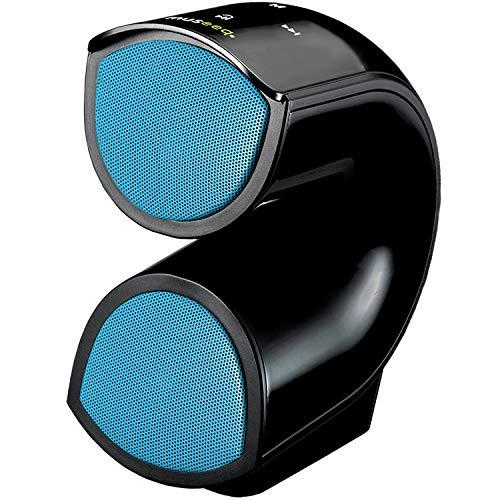 Museeeq - Altoparlanti portatili wireless Bluetooth 4.2 con bassi migliorati, alto volume, 4400 mAh, 10 W, suono stereo integrato, microfono per spiaggia, feste e viaggi