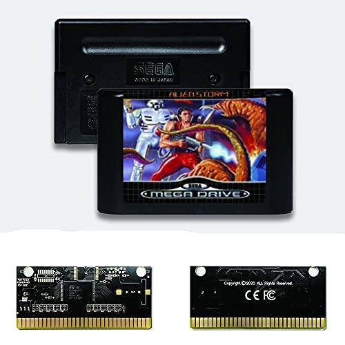 Yuva Carte PCB or autocatalytique Alien Storm EUR Label Flashkit MD pour Console de jeu vidéo Sega Genesis Megadrive (sans région)