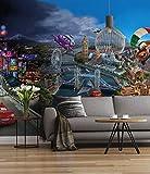 'Sunny Decor Papier peint photo'Cars World, 1pièce, multicolore, SD400