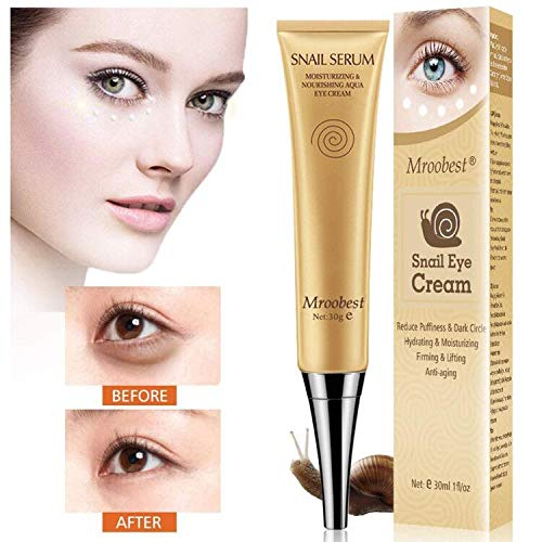 Under Eye Cream, Eye Repair Cream, Anti-Aging Eye Cream, Snail Secretfiltrate & Hyaluronic Acid, Use for Dark Circles/Puffiness/Under Eye Bags Etc. Rapid Wrinkle Repair Eye Skin