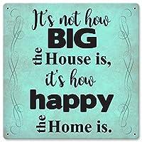 どのように大きな家はレトロなヴィンテージの装飾金属ティンサイン