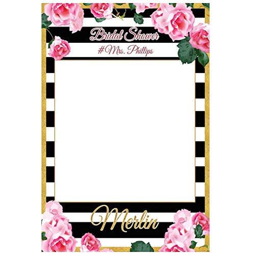 Personalized Wedding Photo Booth Frame Bridal Shower Selfie Frame Handmade Party Supply Photo Booth Props 48x36 Bachelorette Sizes 36x24 Wedding shower Flower Bridal Shower Photo Booth Prop