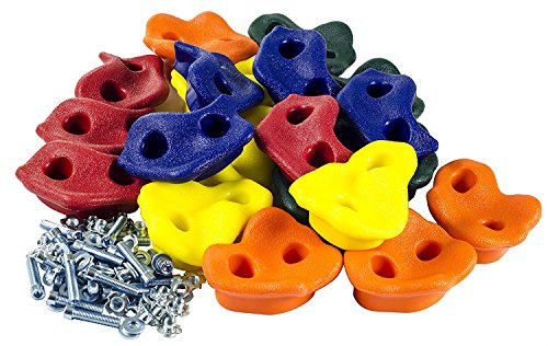 20 Extra Large Deluxe Rock Climbing Holds - with Mounting Hardware