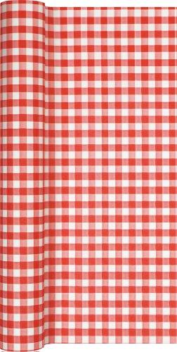 Tischläufer Rolle Kariert In Rot – Weiß/Karo/Airlaid/Tischband für Party/Geburtstag 40cm x 4,90m