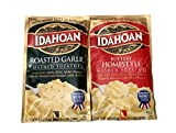 Idahoan Mashed Potatoes , 4 Oz Package - 2 PACK (Roasted Garlic & Buttery Homestyle)