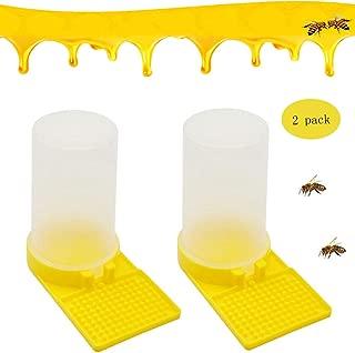PINVNBY Bee Water Dispenser Beekeeping Beehive Entrance Drinking Equipment Honey Feeder Nest Beekeeper Tool (2 Pack Transparent,Yellow)