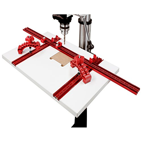 Woodpeckers Drill Press Table Package, Kit 2, Complete Kit with Work Surface, Clamps, Fence and Stops