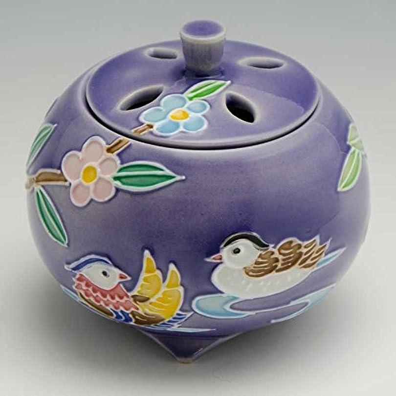 練習したイブニング姿勢京焼 清水焼 京 焼き 京焼き 香炉 1個 木箱入 交趾おしどり(紫) こうちおしどり(むらさき) YSM134