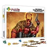 1000 piezas Mystery Jigsaw Puzzle Hellboy Jigsaw Puzzle para adolescentes y adultos Cada pieza es única, juguetes de entretenimiento regalo para la decoración de la pared del hogar 75x50cm
