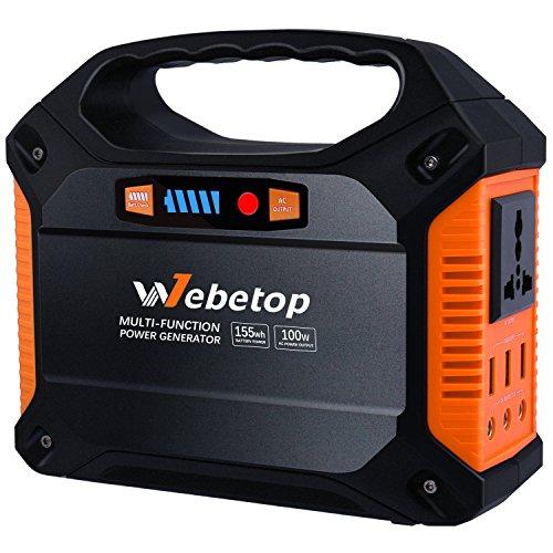 Webetop 155Wh 42000mAh Portable Generator Inverter Battery 100W Camping...