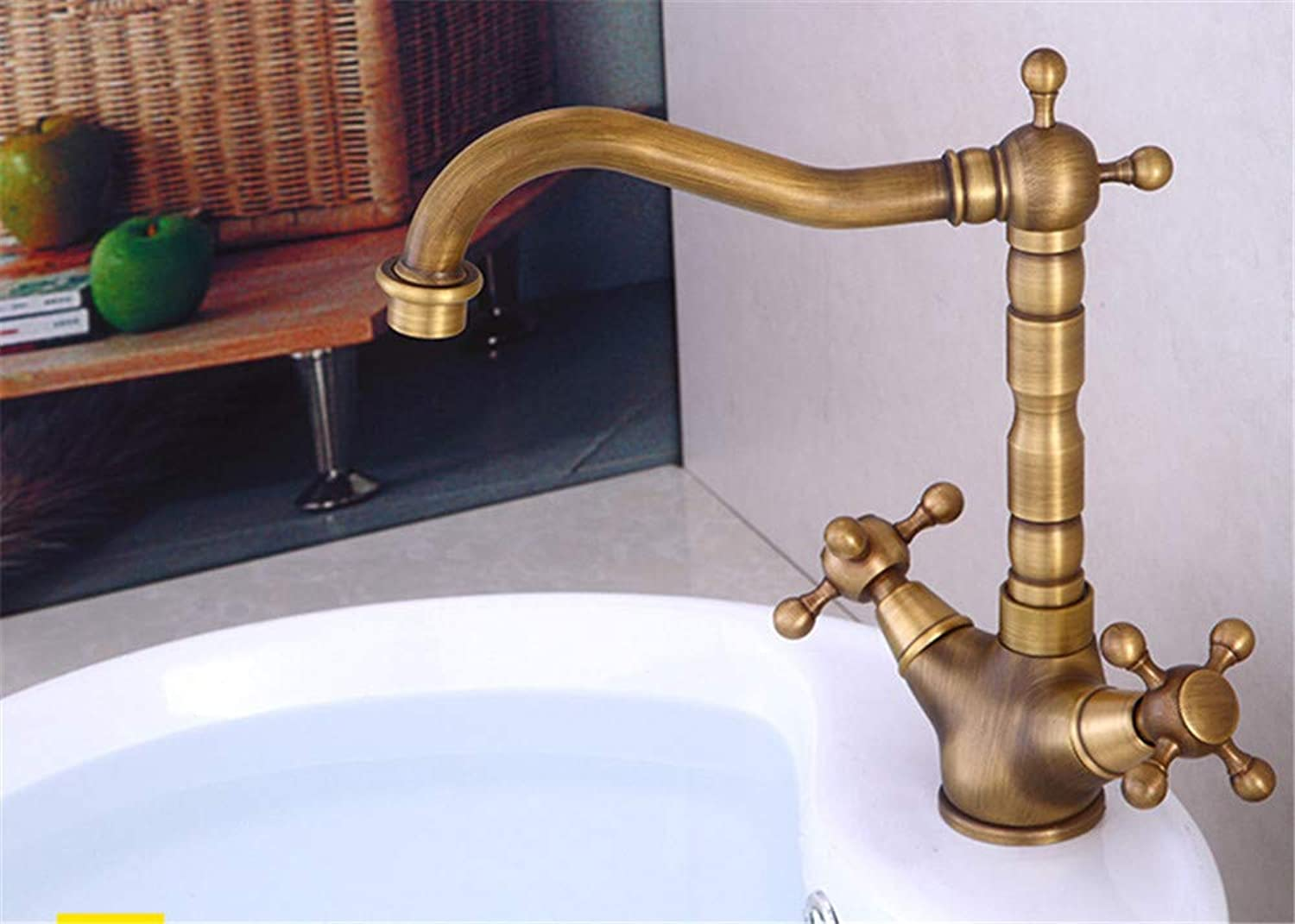 XPYFaucet Faucet Tap Taps All-copper European basin redating hot and cold water high single hole single handle
