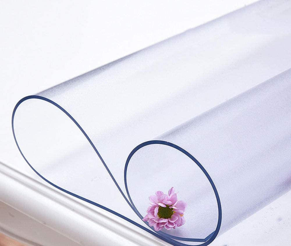 Promworld hules para mesas Rectangular Hojas,PVC Impermeable, Anti-Quemaduras, a Prueba de Aceite y sin Lavado Mantel-Mate 2.0mm_80 * 150cm,Mantel Hule de Vinilo de PVC