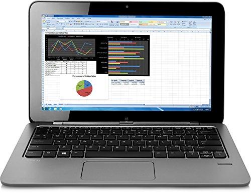 HP Elite X2 1011 (L5G45EA) 29,46 cm (11,6 Zoll) Convertible Business Laptop (Intel Core M-5Y10c, 4 GB RAM, 128 GB SSD, HD Bildschirm, Touchscreen, Windows 8.1 Pro 64) silber