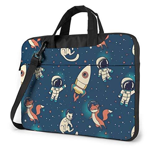 Galaxy Astronauts Bolso de Hombro para computadora portátil Ultrabook Compatible con Bolso de Hombro con Correa,