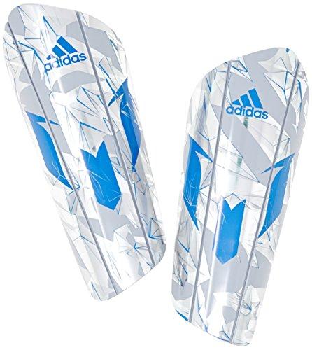 adidas Messi 10 Pro Schienbeinschoner, Silver Metallic/Shock Blue, M