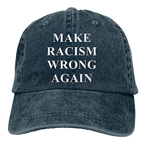 Jopath Make Racism Wrong Again - Gorra unisex para camionero, diseño de papá, color azul marino