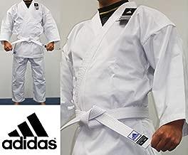 adidas Student Karate Black & White 8oz Uniform/Gi with Free Belt WKF Approved Sizes 0000 to 7