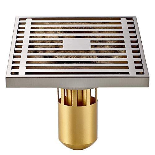DYecHenG Bodenablauf Platz Deodorant Bad Bodenablauf Antiverstopfungs Küche Und Bad Tiefgarage (Silber) Zu Entwässern für Badezimmer Toilette Küche (Color : Silver, Size : 10 x 10 x 8.5 cm)
