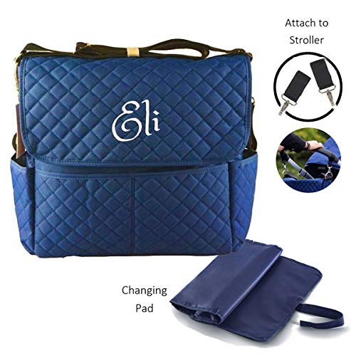 Blue Damasks Design Personalization Custom Gym Bag