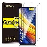 QULLOO Protector de Pantalla para Xiaomi Poco X3 Pro/Xiaomi Poco X3 NFC/Xiaomi Mi 10T Lite, Cristal Templado [9H Dureza] [Anti-Huella] para Xiaomi Poco X3 NFC/Xiaomi Mi 10T Lite (2 Piezas)