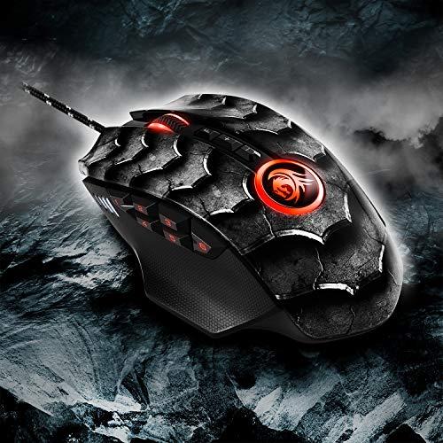 Sharkoon Drakonia II Gaming Maus, optischer Sensor PixArt 3360, 15.000 DPI, 12 programmierbare Tasten, schwarz - 9
