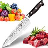 HAMIIS Cuchillo de Cocina-8Pulgadas Cuchillo Chef-Cuchillo de Cocinero Profesional-Ultra Afilada-Superficie Antiadherente y Protección Contra la Corrosión para Cortar Verdura, Fruta, Carne y Pescado
