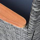 Polyrattan Gartenstuhl 2er Set Akazie Holz Rattan Stuhl Garten Sessel Stuhlset - 7