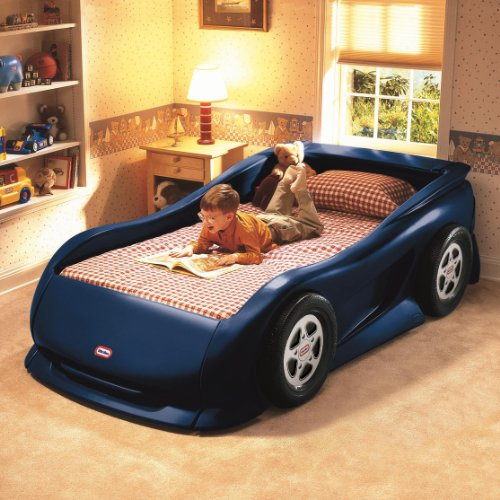 Hot Sale Little Tikes Sports Car Twin Bed (Blue)