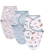 SaponinTree Baby puryggsäck för nyfödda, 3-pack baby skötfilt för nyfödda från 0-6 månader, universal justerbar sovsäcksfilt för spädbarn spädbarn spädbarn nyfödda