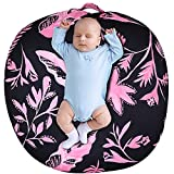 Baby Lounger Cover for Boys Girls, Flower Removable Slipcover for Infant Lounger, Lounger Pillow Case for Babies, Lovey Super Breathable Soft Snug Fitted, Pink Floral (Lounger Pillow Not Included)