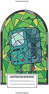 Notebook: Stained Glass Bmo The Robot , Journal for Writing, Size 6