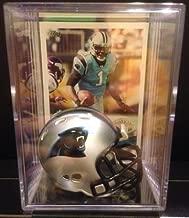 Carolina Panthers NFL Helmet Shadowbox w/ Cam Newton card