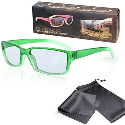Gafas 3D para niños pasivo para RealD - Verde-transparente - Polarizadas circular...