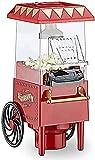 LITINGT Máquina de Palomitas de maíz Retro 1200W Máquina de Palomitas de maíz de Carnaval Fácil de Hacer Palomitas de maíz para bocadillos más saludables en 3 Minutos Máquina de Palomitas de maíz si