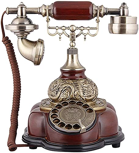 CWZY Teléfonos Decorativos Antiguos Teléfonos de Oficina para el hogar para teléfonos fijos, teléfono Fijo Retro Teléfonos caseros Antiguos de Moda con Timbre mecánico y Altavoz