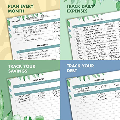 Product Image 4: Simplified Monthly Budget Planner – Easy Use 12 Month Financial Organizer with Expense Tracker Notebook – The 2021 Monthly Money Budgeting Book That Manages Your Finances Effectively