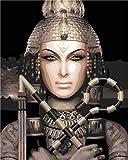 XSDFG DIY Pintura por Números adultoscon Pinceles y Pintura ;Pintura al óleo de Regalos y Decoraciones- Retratos de la mitología egipcia 16×20 Pulgadas(Sin Marco)