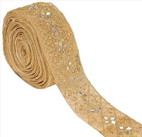 BridalMary Hand Beaded Bridal Dress DIY Wedding Applique 1 YD Trim Sash Applique