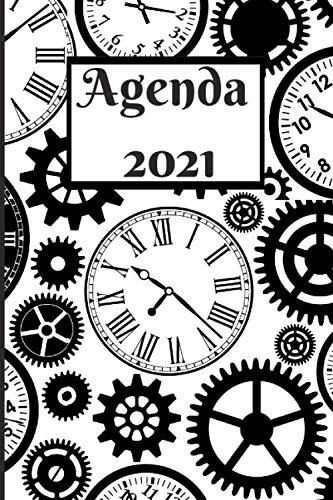 Agenda 2021: Organisateur, planificateur, to do list, professionnel. Design amoureux des montres, horlogerie.
