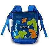 Striefchen® Kindergarten Tasche - Dinos - als Rucksack mit Namen des Kindes
